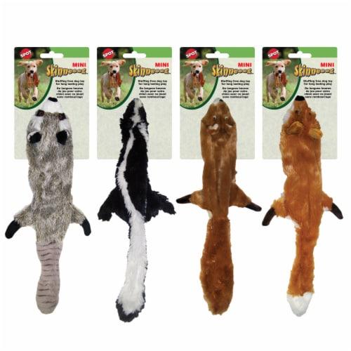 Spot Mini Skinneeez Plush Raccoon Dog Toy Perspective: front