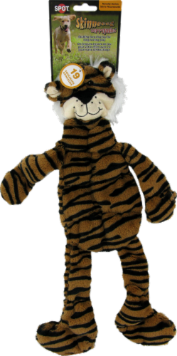 Spot Skinneeez Striped Cat Dog Toy Perspective: front
