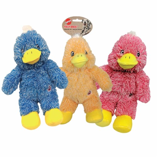 Spot Fuzzy Pastel Duck Plush Dog Toy - Assorted Perspective: front