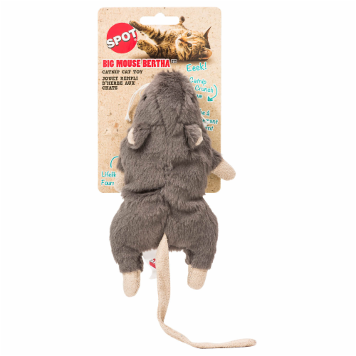 Spot Big Mouse Bertha Catnip Cat Toy - Assorted Perspective: front