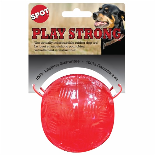 Spot Play Strong Rubber Dog Toy Perspective: front