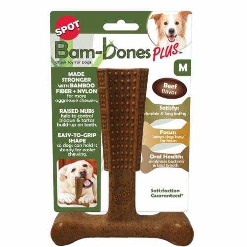 Spot Bam-bones Plus Beef Dogs Chews 1 pk 0.3 lb. - Case Of: 1; Perspective: front