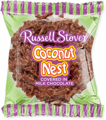 Russell Stover Milk Chocolate Coconut Nest Perspective: front