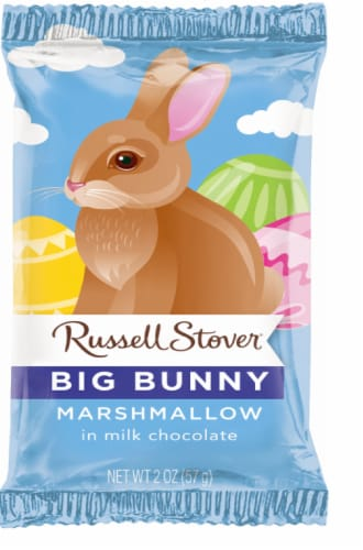 Russell Stover Chocolate Marshmallow Bunny Perspective: front