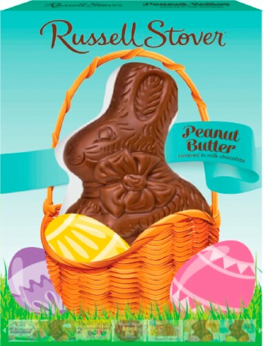 Russell Stover Peanut Butter Milk Chocolate Rabbit Perspective: front
