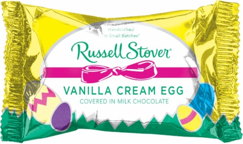 Russell Stover Milk Chocolate Covered Vanilla Cream Egg Perspective: front