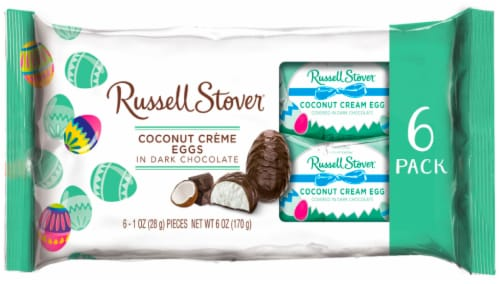 Russell Stover Cream Eggs 6 Count Perspective: front