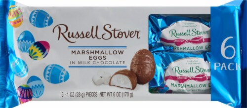 Russell Stover Milk Chocolate Covered Marshmallow Eggs Perspective: front