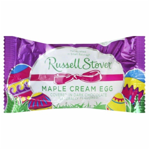 Russell Stover Maple Cream Egg Perspective: front