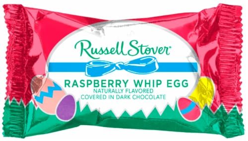 Russell Stover Dark Chocolate Covered Raspberry Whip Eggs Perspective: front