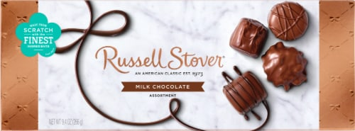 Russell Stover Milk Chocolate Assortment Box Perspective: front