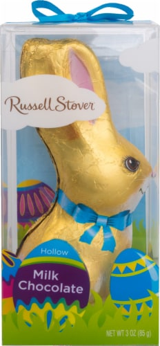 Russell Stover Milk Chocolate Hollow Bunny Perspective: front