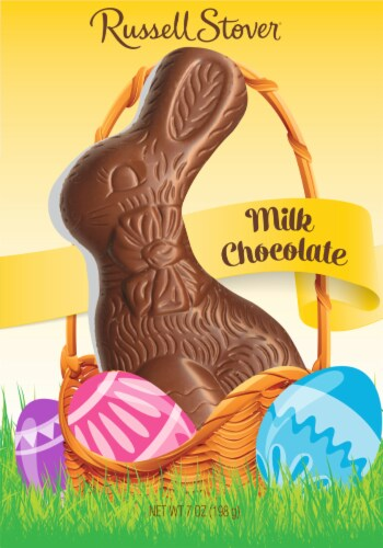 Russell Stover Solid Milk Chocolate Rabbit Perspective: front