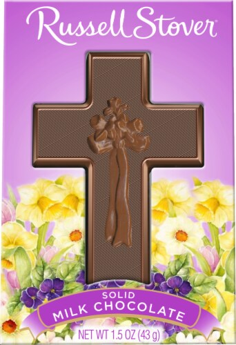 Russel Stover Solid Milkk Chocolate Cross Perspective: front
