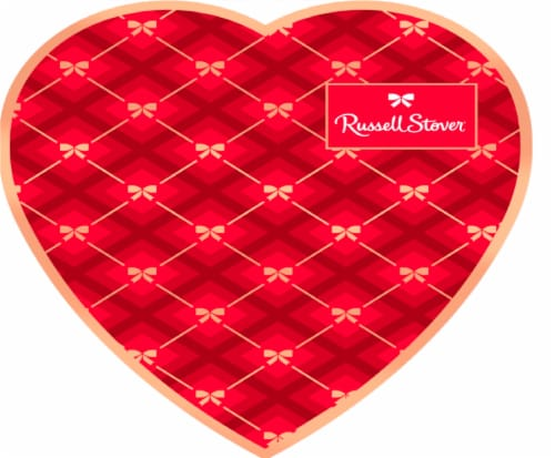 Russell Stover Milk Chocolate Assortment Heart Box Perspective: front