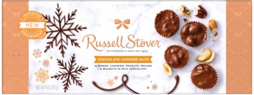 Russell Stover Chocolate Covered Nuts in Milk Chocolate Perspective: front
