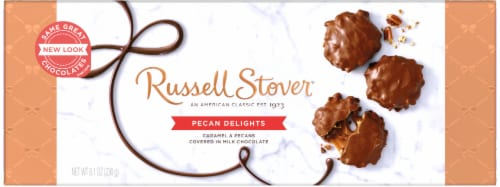 Russell Stover Pecan Delights in Milk Chocolate Perspective: front