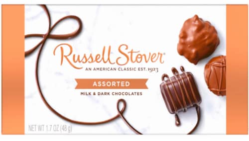 Russell Stover Assorted Milk & Dark Chocolates Perspective: front