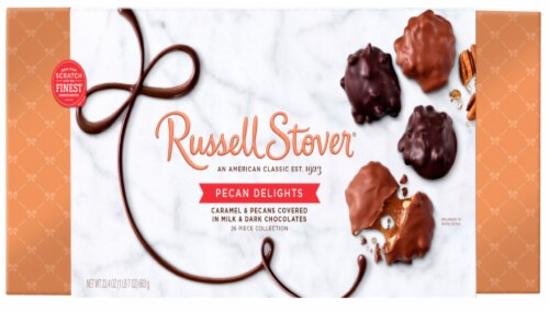 Russell Stover Pecan Delights Boxed Chocolates Perspective: front