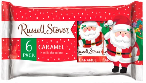 Russell Stover Caramel Chocolate Santas Holiday Chocolates Perspective: front