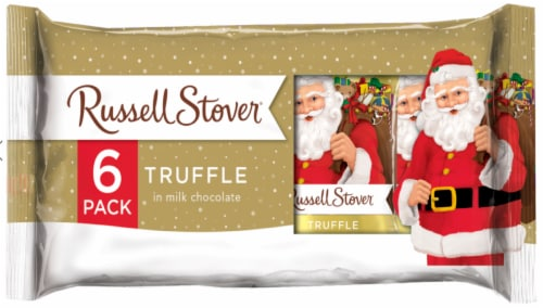 Russell Stover Truffles in Milk Chocolate Holiday Pack Perspective: front
