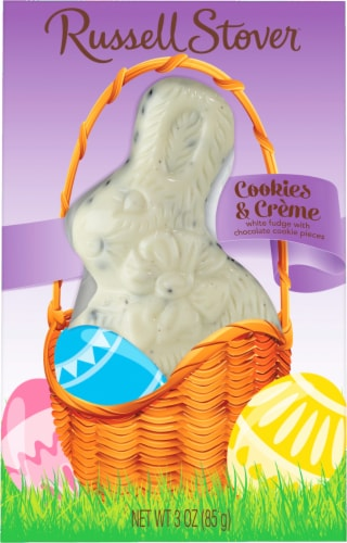 Russel Stover Cookies 'n Cream Bunny Perspective: front