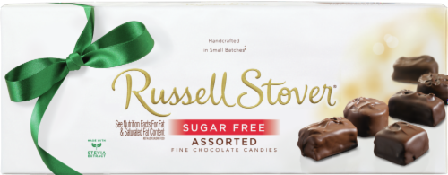 Russell Stover Sugar Free Assorted Chocolate Box Perspective: front
