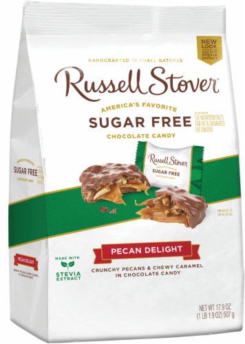 Russell Stover Sugar Free Pecan Delights Gusset Bag Perspective: front
