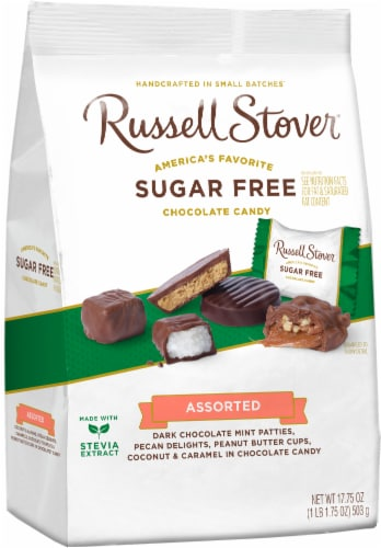Russell Stover Sugar Free Assorted Chocolates Perspective: front