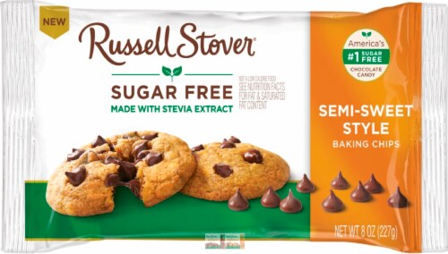 Russell Stover Sugar Free Semi-Sweet Baking Chips Perspective: front