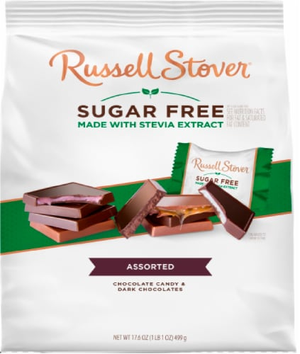 Russell Stover Sugar Free Assorted Chocolate Tiles Perspective: front