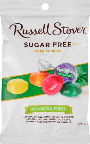 Russell Stover Sugar Free Assorted Fruit Hard Candies Perspective: front