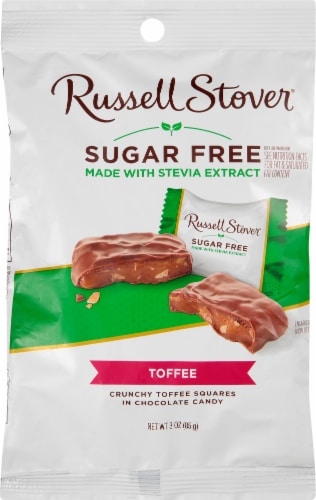 Russell Stover Sugar Free Toffee Squares Perspective: front