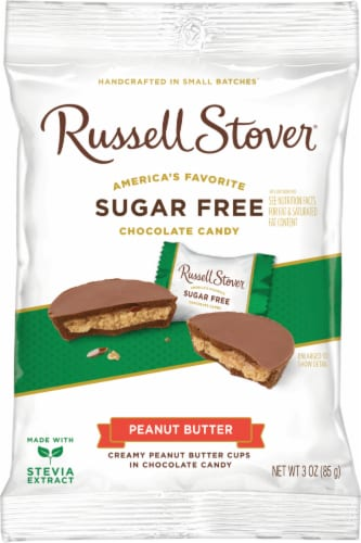 Russell Stover Sugar Free Peanut Butter Cups Perspective: front