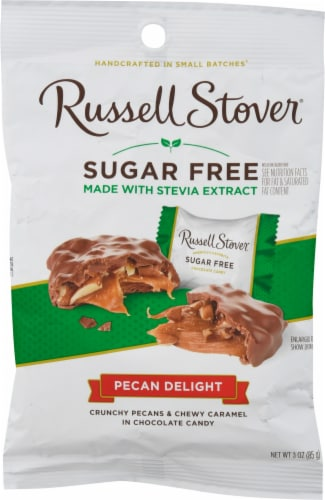 Russell Stover Sugar Free Pecan Delights with Stevia Extract Perspective: front