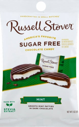 Russell Stover Sugar Free Mint Patties Perspective: front