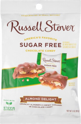 Russell Stover Sugar Free Almonds & Caramel Delights Perspective: front
