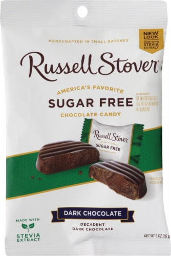 Russell Stover Sugar Free Dark Chocolate Candies Perspective: front