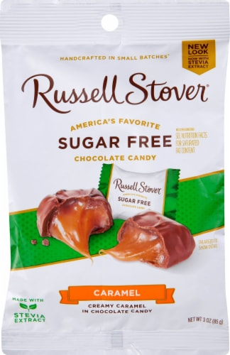Russell Stover Sugar Free Butter Cream Caramels Perspective: front