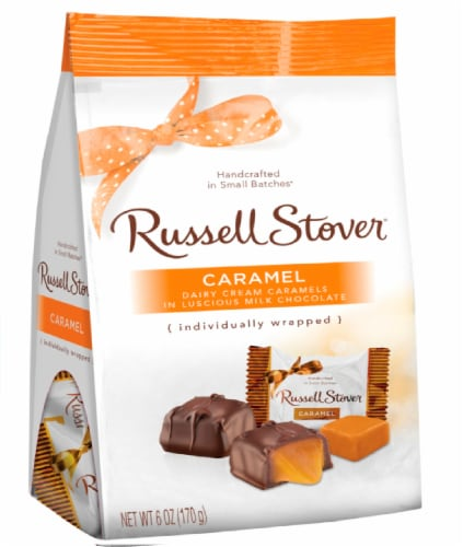 Russell Stover Milk Chocolate Caramel Mini Gusset Bag Perspective: front