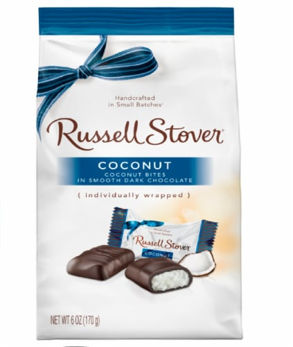 Russell Stover Dark Chocolate Coconut Mini Gusset Bag Perspective: front