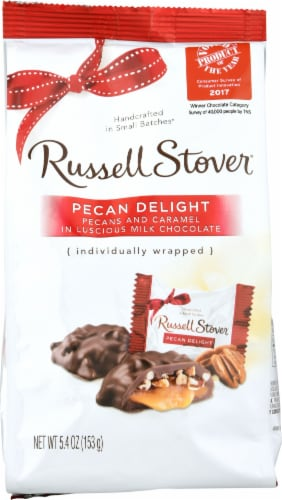 Russell Stover Milk Chocolate Pecan Delights Perspective: front