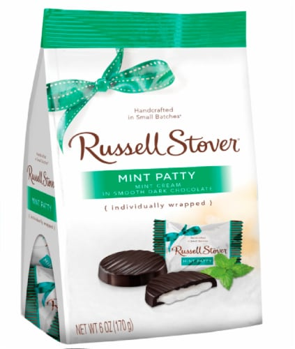 Russell Stover Dark Chocolate Mint Patties Perspective: front