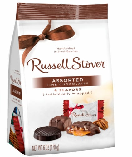 Russell Stover Assorted Chocolate Mini Gusset Bag Perspective: front