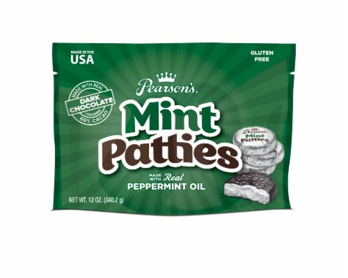 Pearson's Dark Chocolate Mint Patties Perspective: front