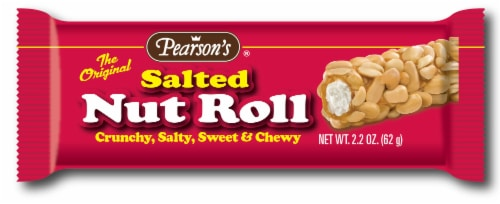 Pearson's Salted Nut Roll Candy Bar Perspective: front