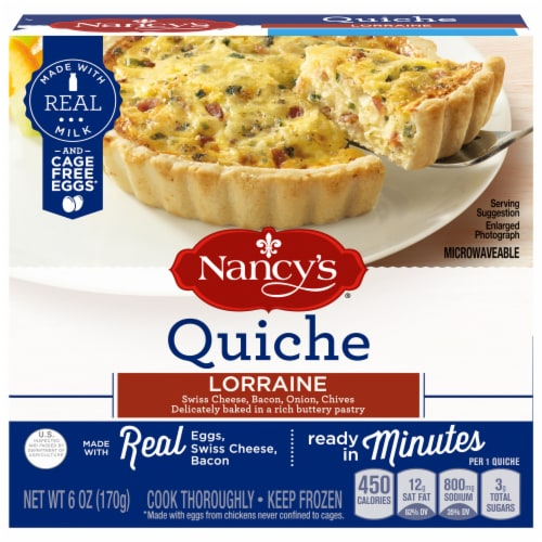 Nancy's Lorraine Quiche Perspective: front