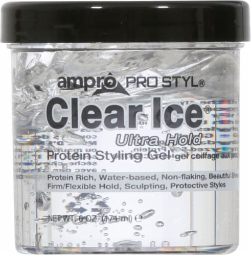 Ampro Pro Styl Clear Ice Ultra Hold Hair Gel Perspective: front