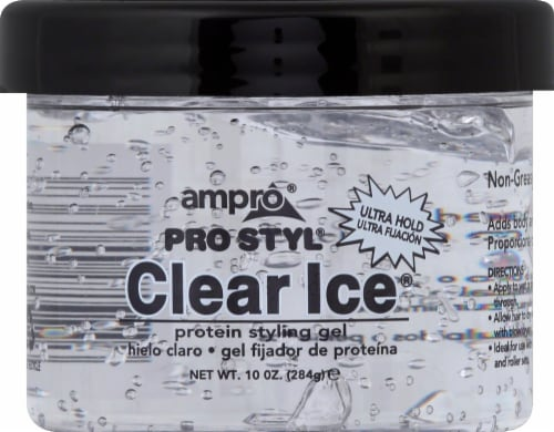 Ampro Pro Styl Clear Ice Ultra Hold Protein Styling Gel Perspective: front