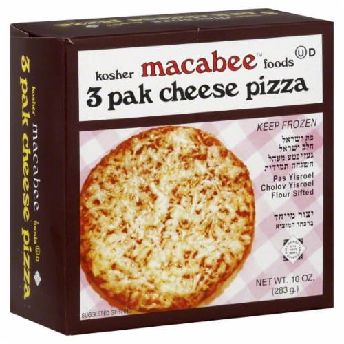 Macabee's Kosher Foods Cheese Pizzas 3 Count Perspective: front